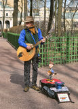 Busker with puppets. Stock Images