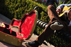 Busker's case Royalty Free Stock Photos