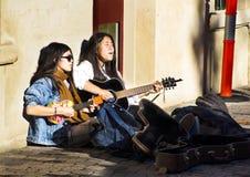 Buskers an den Salamanca-mrkets Stockfoto