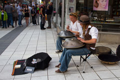 Buskers with hangs Stock Image