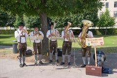Buskers i Wien arkivfoton