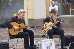 Buskers Royalty Free Stock Photography