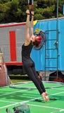 Совершитель цирка взрывателя воздушный, празднество Buskers мира, новое Zealan Стоковая Фотография