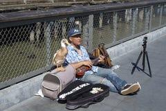 Busking i San Francisco arkivfoto