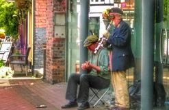 Busking incognito Obrazy Royalty Free