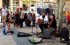 Busking in Jerusalem Stock Images
