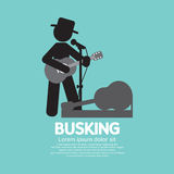 Busking, Street Performance Symbol. Stock Photos