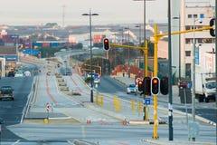 Buslinien auf der Straße in Port Elizabeth stockfotografie