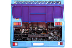 Busmotor Stockfoto