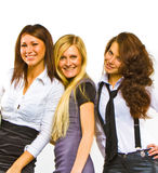 Busness group of three ladies Stock Image