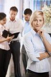 busnesswoman办公室 免版税库存照片
