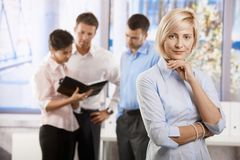 Busnesswoman in office Royalty Free Stock Photography