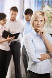 Busnesswoman in office Royalty Free Stock Photo