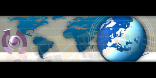 Busniess Background World. Internet Technology Illustration. Can be used for the business area Stock Photos