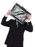 Busniessman. Burrow with bag over face Stock Image