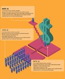 Busniness infographics element. Flat color infographics element about business money and salary Stock Photography