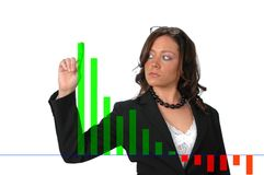 Busnineswoman showing chart Stock Image