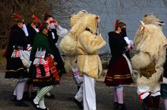 Buso festival, Mohacs, Ungern Royaltyfria Foton