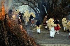 Buso festival, Mohacs, Ungern Arkivbild