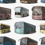 Buspictogrammen geplaatst patroon Royalty-vrije Stock Fotografie