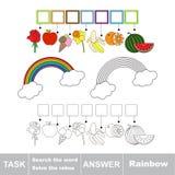 Busque el arco iris de la palabra Imagenes de archivo