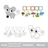 Busque el ratón de la palabra Imagen de archivo