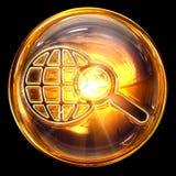 Busque el vidrio del icono. Foto de archivo