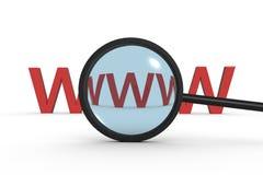 Busque Internet Imagen de archivo libre de regalías