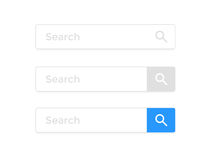 Busque la plantilla de los iconos del vector del elemento del navegador de Internet de la página web de la barra libre illustration
