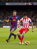 Busquets and Diego Costa Stock Photography