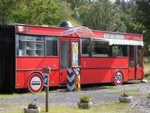 Busrestaurant Stockbild
