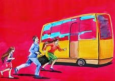 Buss royaltyfri illustrationer