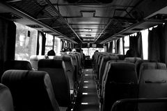 黑白buss 库存图片