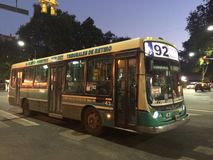 92 buss, Buenos Aires Royaltyfri Foto