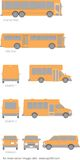 Buss d'école dessinant la configuration Photo stock