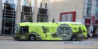 Buss för Chicago transportmyndighet royaltyfri fotografi