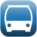 Buss för främre sida för symbol Arkivfoto