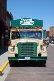 Buss för gammal stil för sight i Deadwood, South Dakota royaltyfri foto