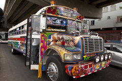 Buss i Central America Arkivfoton