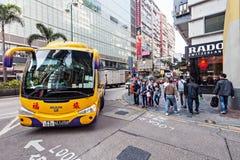 Buss i Hong Kong Arkivfoton