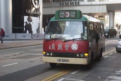 Buss i Hong Kong, Kowloon Arkivbild