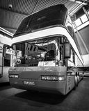 Buss NEOPLAN 128/4 Megaliner, 1993 Arkivbild