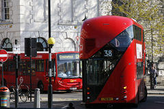 buss nya london Arkivfoto