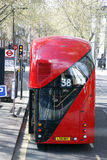 buss nya london Arkivbilder
