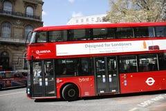 buss nya london Arkivbild