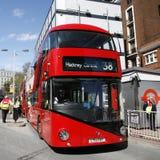 buss nya london Arkivfoto