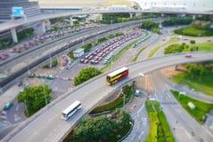 Buss på huvudvägen Arkivbilder