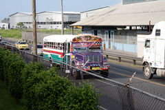 buss panama Fotografering för Bildbyråer