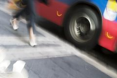 buss sent Arkivfoto
