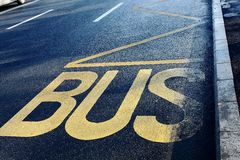 Buss station Royalty Free Stock Photography